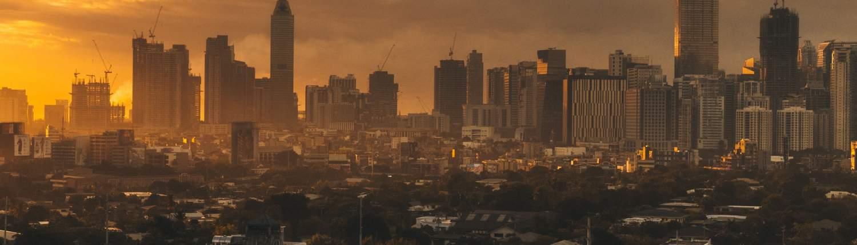 Manilla skyline. HR på Filippinene