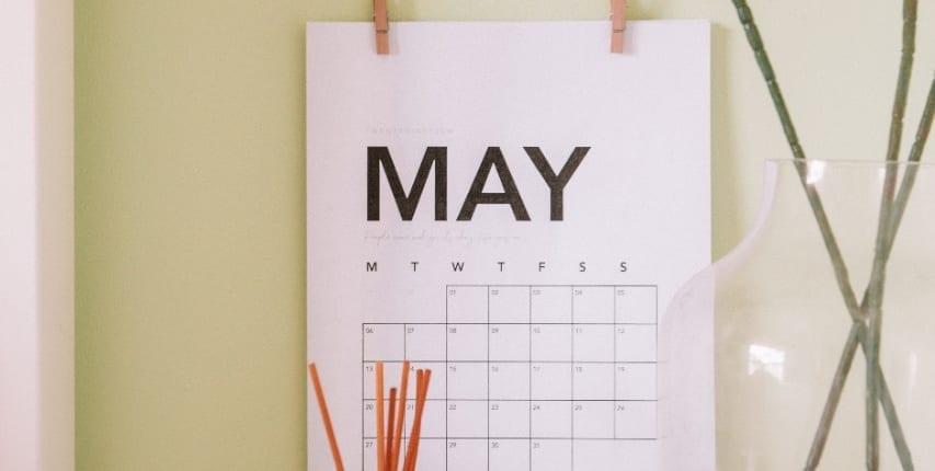 Kalender maimåned. Siste nytt innen HR